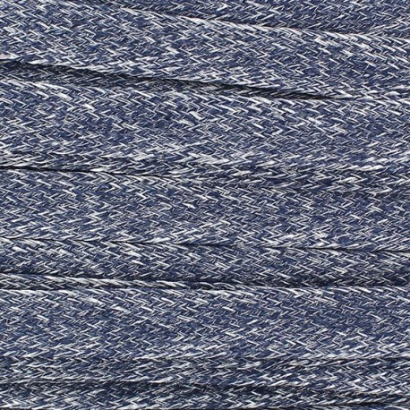 Flat Linen Braid Ribbon 10 mm - Navy