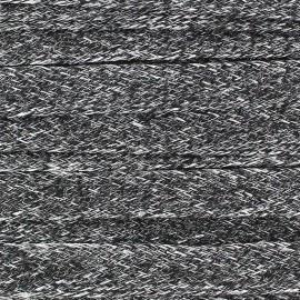 Cordelette plate Lin 10 mm noir