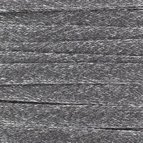 Flat Linen small cord 10 mm - grey