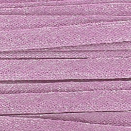 Flat Linen Braid Ribbon 10 mm - Pink