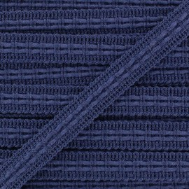 Lace-making Braid trimming Ribbon 10 mm - navy blue