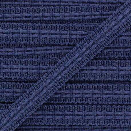 Lace-making Braid trimming Ribbon 10 mm - navy blue