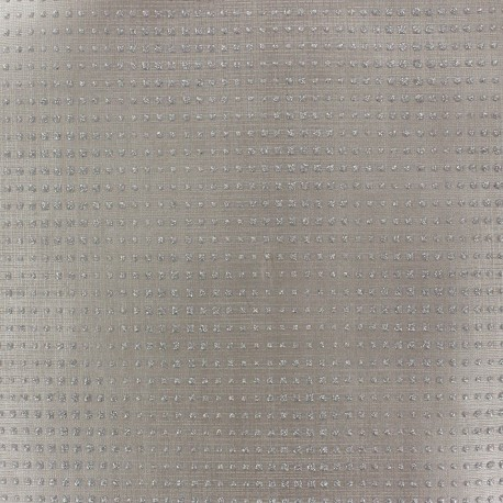 Faux leather fabric Diamonds - beige x 10cm