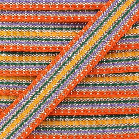 Ruban Happy avec lurex - orange