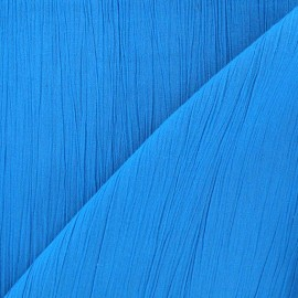 Seersucker fabric - Turquoise x 10cm