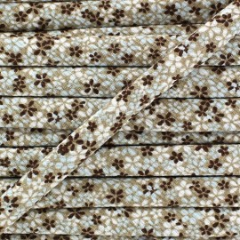 ♥ Coupon 480 cm ♥ Cord, Little Flowers  - Brown