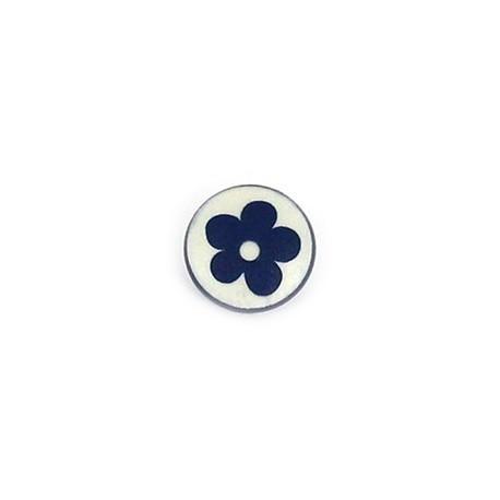 Polyester Button Alamandra - blue navy