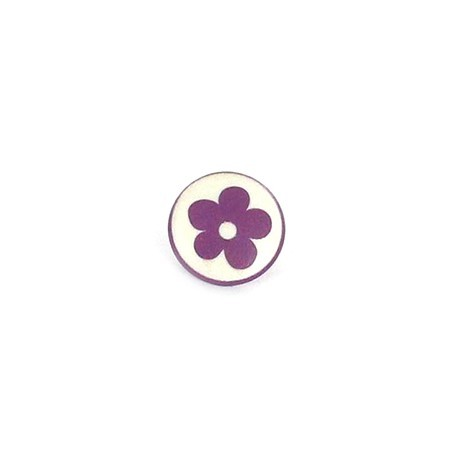 Bouton Polyester Alamandra violet