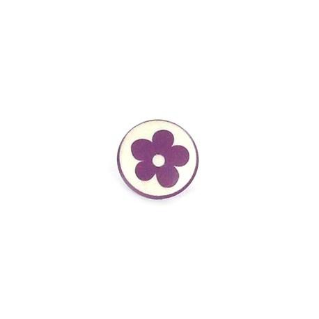 Polyester Button Alamandra - purple
