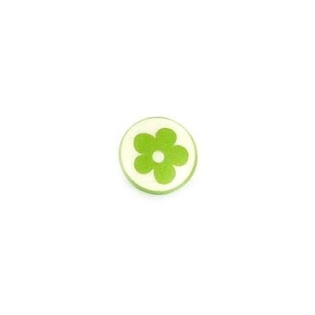 Bouton Polyester Alamandra vert clair