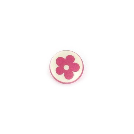Bouton Polyester Alamandra rose