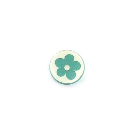 Bouton Polyester Alamandra vert d'eau