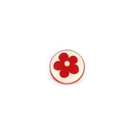 Bouton Polyester Alamandra rouge