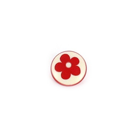 Polyester Button Alamandra - red