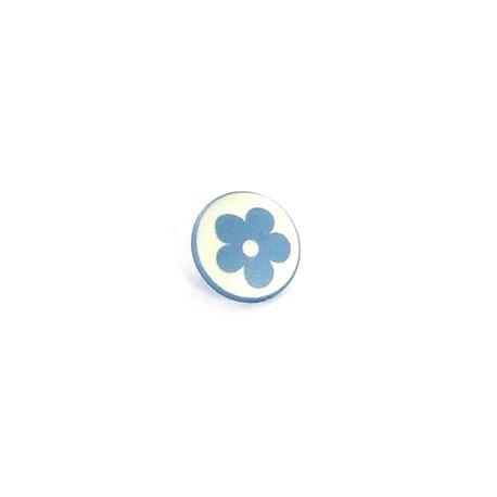 Bouton Polyester Alamandra bleu