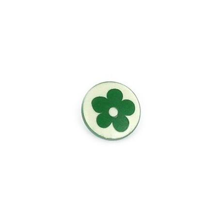 Polyester Button Alamandra - green