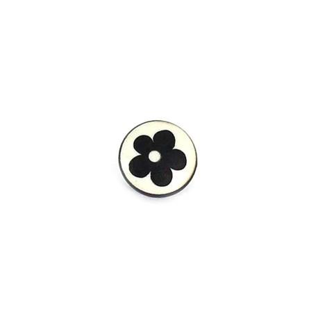 Polyester Button Alamandra - black