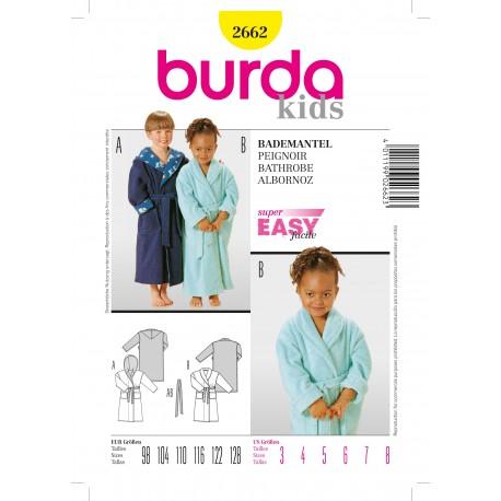 Patron Peignoir Burda n°2662