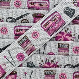 Ruban tissé Sewing Shop violet