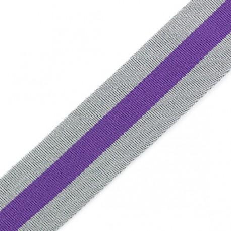 Sangle réversible Graffi gris/violet x 50cm