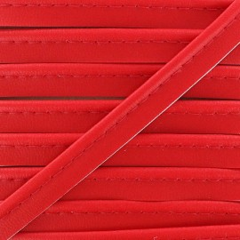 Imitation leather piping - red