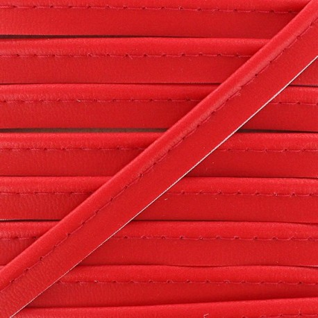 Simili Cuir imitation leather piping - red