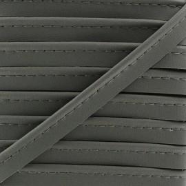 Passepoil Simili Cuir gris anthracite