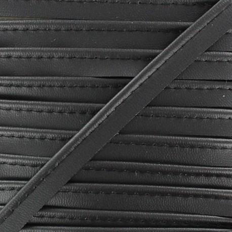 Simili Cuir imitation leather piping - black
