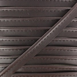 Imitation leather piping - brown