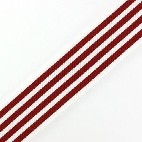 Sangle réversible Rayures rouge x 50cm