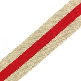Sangle réversible Graffi rouge x 50cm