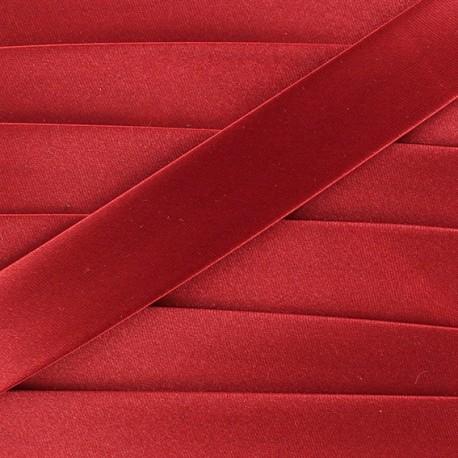 Biais satin rouge cerise 20 mm