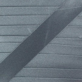 Satin bias binding x 20mm - anthracite grey