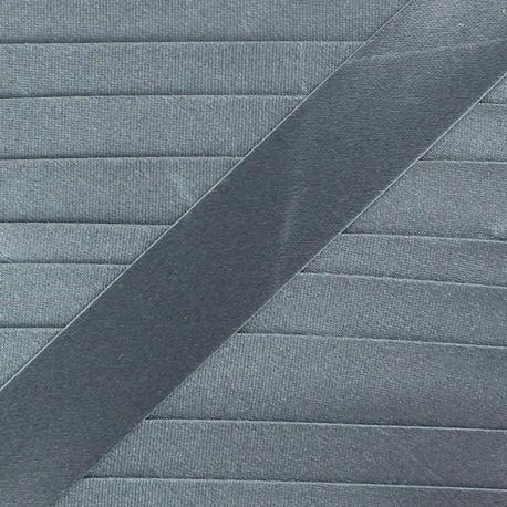 Biais satin gris anthracite 20 mm