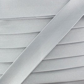 Satin bias binding x 20mm - light grey