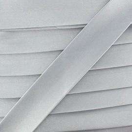 Satin bias binding x 20mm - light grey