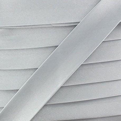 Biais satin gris clair 20 mm