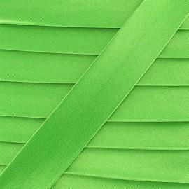 Biais satin vert anis 20 mm
