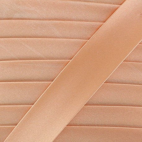 Satin bias binding x 20mm - peach
