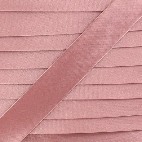 Satin bias binding x 20mm - pink
