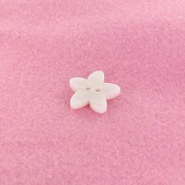 Bouton Polyester Lys blanc
