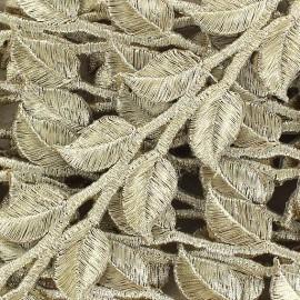 Fusible braid trimming, India, Leaf x 50cm - golden