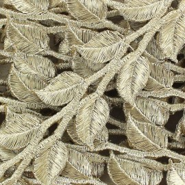 Ruban India Thermocollant Leaf doré x 50cm