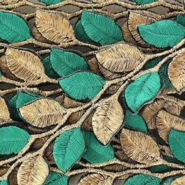 Ruban India Thermocollant Leaf Bicolore Doré/Vert x 50cm