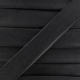 Biais simili cuir Karia 20 mm noir
