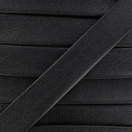Imitation leather bias binding, Karia 20 mm - black