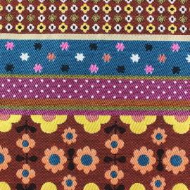 Fabric Twiggy stripes bayadere green x 33cm