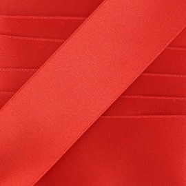 Double-sided satin ribbon, luxery - red