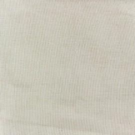 Tissu étamine Wilmo (laize : 160cm) lin crème x 10cm