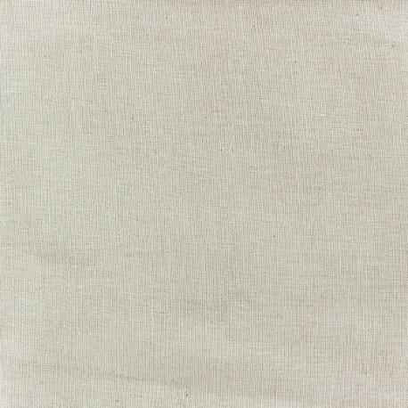 Tissu étamine (laize : 154cm) lin crème x 10cm